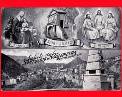 CARTOLINA – ITALIA - LAZIO - Vallepietra (Roma) - 1965 - Santuario S. Anna - SS. Trinità - Altre Città