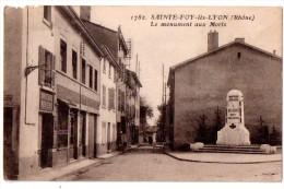 CPA SAINTE FOY LES LYON LE MONUMENT AUX MORTS - Other Municipalities