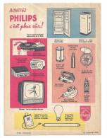 Protège Cahier Publicité Philips Joie Et Confort Dans La Maison Illustré Par Collet - Protège-cahiers