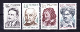 FRANCE  1977 Personalities   ,  Y&T  # 1953/6 , Cv  2.40  E  , ** M N H , V V F - Unused Stamps