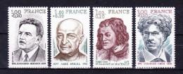 FRANCE  1977 Personalities   ,  Y&T  # 1953/6 , Cv  2.40  E  , ** M N H , V V F - Nuovi
