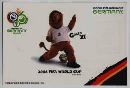 Goleo VI,official Mascot For 2006 FIFA Football World Cup In Germany,China 2006 China Children And Teenagers´s Fund PSC - Coupe Du Monde