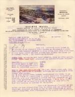 Société MAXOL HUILES VEEDOL / Tide Water Oil Company  1923 à Paris Rue Blanche & Bruxelles Rue Des Pierres - Factures & Documents Commerciaux