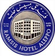 5 HOTEL LABELS TURKIJE Turkey Turquie  Tusan  Besen Palas  Hilton  Alibaba  Izmir  Ramsis Alepo - Hotel Labels
