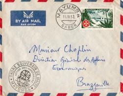 - Oblitération De 1957  à  MAYUMBA  - 146 - Gabon (1960-...)