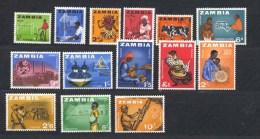 Zambia, Yvert 4/17, Scott 4/17, SG 94/107, MNH - Altri