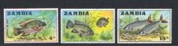 Zambia, Yvert 74/76, Scott 74/76, MNH - Zambie (1965-...)