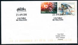 """ARCTIC, NORGE,  MS """" MIDNATSOL """" 2 Markings : 28 APR 2010, """"In The Trollfjord""""!! - Arctische Expedities"""