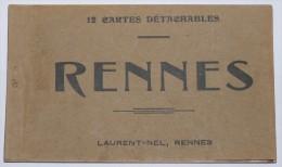 RENNES - 35  - Carnet 11 CPA : Hôtel De Ville;Théâtre;Palais De Justice; Gare;quais; Grotte; Thabor; Serres..... - Rennes
