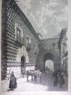 Ségovie , La Maison Des Angles ( La Casa De Los Picos ) , Gravure De Merlin 1876 - Documents Historiques