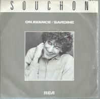 """45 Tours SP - ALAIN SOUCHON - RCA 61180 -   """" ON AVANCE """" +  """" SARDINE """" - Autres - Musique Française"""