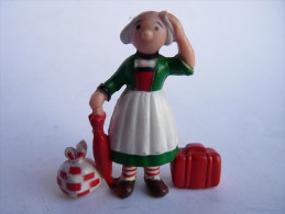 FIGURINE BECASSINE AVEC SES BAGAGES - MINERVE 1972 - Figurines