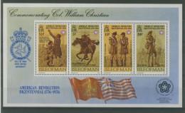 ISLE OF MAN 1976 USA BI-CENT BLOCK  MNH** - Isola Di Man
