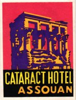 HOTEL LABELS  EGYPTE     3 P  Continental Cairo  Cataract  Assouan  Nile Hilton - Hotel Labels