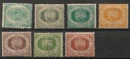 Saint-Marin (Italie). 1877-1892.  Entre N° 1 Et 19. Oblit. Et Neuf * MH - Gebraucht