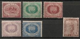 Saint-Marin (Italie). 1885.  N° 26-30 + 32. Neuf * MH - Gebraucht