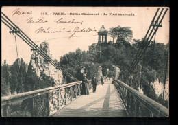 75 PARIS XIX Buttes Chaumont, Pont Suspendu, Animée, Ed ? 333, 1903 - Arrondissement: 19