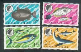 Ascension 1968 Fish Set SG113-116 MNH / Unmounted Mint - Ascensión