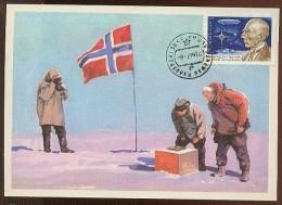 CARTE MAXIMUM CM Card USSR RUSSIA Polar North Pole Amundsen Investigator Norway Arctic Zeppelin - Cartes Maximum