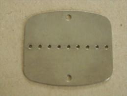 Militaria M - Plaque D'identification Vierge - Armée - Scan Recto Verso - Equipement