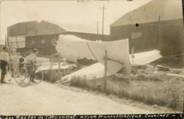 94  ORLY - CARTE PHOTO - LES RESTES DE L ARC EN CIEL AVION TRANSATLANTIQUE COUZINET - ACCIDENT - CRASH 1928 - Orly