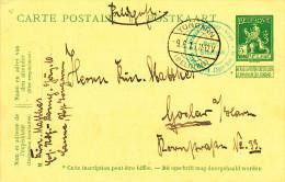 622/21 - Entier Belge Pellens Utilisé En Feldpost - CANNE Via TONGERN 1915 Vers Allemagne - Esercito Tedesco