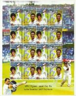INDIA 2013 FULL SHEETLET SACHIN TENDULKAR 200TH TEST MATCH IN MUMBAI - Unused Stamps
