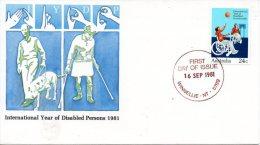 AUSTRALIE. N°746 De 1981 Sur Enveloppe 1er Jour (FDC). Basket Pour Handicapé/Année Internationale Des Handicapés. - Handisport