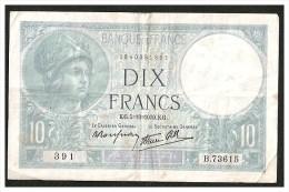 MINERVE - 10F - 5-10-1939 - 1871-1952 Antichi Franchi Circolanti Nel XX Secolo