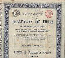 2X Tramways De Tiflis 1895 - Russie