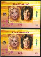 HUNGARY-1998.Commemorativ Sheet  -  In Memoriam Marilyn Monroe And John Lennon Perf/Imperf  MNH!! - Herdenkingsblaadjes