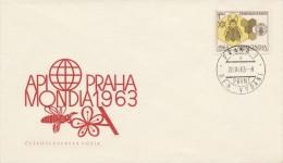 I0079 - Czechoslovakia (1963) FDC Apimondia 1963 Praha - Honeybees