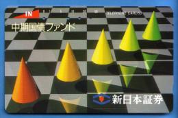 Japan Japon  Telefonkarte Télécarte Phonecard -  Schach Chess Échecs Ajedrez  Schachmuster - Jeux