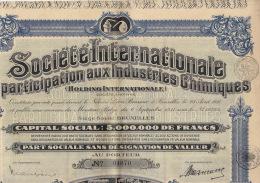 3X Internationale De Participation Aux Industries Chimiques - Industrie