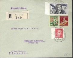 R-Brief Mit Zu 41-44 Mi 222-225 Yv 226-229 Mit O LOCARNO 6.XII.27 (Zu CHF 85.00) - Pro Juventute