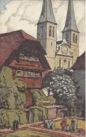 9046 - Hofkirche Mit Kaplanenhaus Illustration Schlatter - LU Lucerne