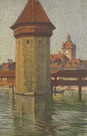 9048 - Wasserturm M. D. Rathaus Illustration Schlatter - LU Lucerne