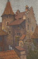 9049 - Hofinners An Der Rossligasse Chat Sur Le Toit Illustration Schlatter - LU Lucerne