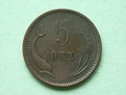1874 CS - 5 ORE / KM 794.1 ( Uncleaned Coin / For Grade, Please See Photo ) !! - Dänemark