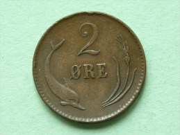 1875 CS - 2 ORE / KM 793.1 ( Uncleaned Coin / For Grade, Please See Photo ) !! - Danemark