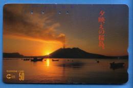 Japan Japon  Telefonkarte Télécarte Phonecard -  Volcan Volcano Vulkan Nr. 390 - 01713 - Volcans