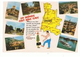 DROME: Carte Humoristique,carte Du Département, Multivues - Sin Clasificación