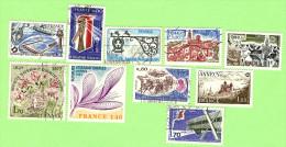2004  ~~  FRANCE  -  Lot  De  10  Timbres  Oblitérés - France