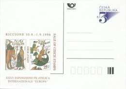 I0090 - Czech Rep. (1996) Postal Stationery: EUROPA 1994, Marco Polo (1254-1324), Riccione 1996 - Beroemde Personen