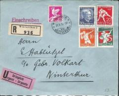 R-Brief Mit Zu 61-64 Mi 262-265 Yv 263-266 Mit O WINTERTHUR 31.V.33 (Zu CHF 90.00) - Pro Juventute