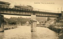 Landelies - Pont Du Chemin De Fer(convoi Ferroviaire, Passage Du Train ) -1941 ( Voir Verso , Jolie Griffe De Landelies) - Montigny-le-Tilleul