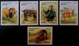 BENIN - FAUNE AFRICAINE 1995 - NEUFS ** - YT 708Z/AD - MI 691/95 - Bénin – Dahomey (1960-...)