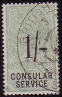 GRANDE BRETAGNE - CONSULAR SERVICE 1/- SHILLINH - CACHET BRITISH LIS........ - Steuermarken