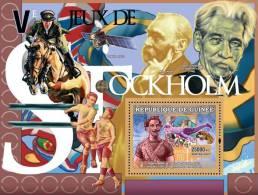 gu0707b Guinea 2007 Sports Olympic s/s Stockholm 1912 Gymnastics  Horse Flag Space A.Schweitzer Nobel Prize Soccer