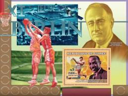 gu0709b Guinea 2007 Sports Olympic s/s Berlin 1936 Franklin Roosevelt Basketball Baseball Sapce
